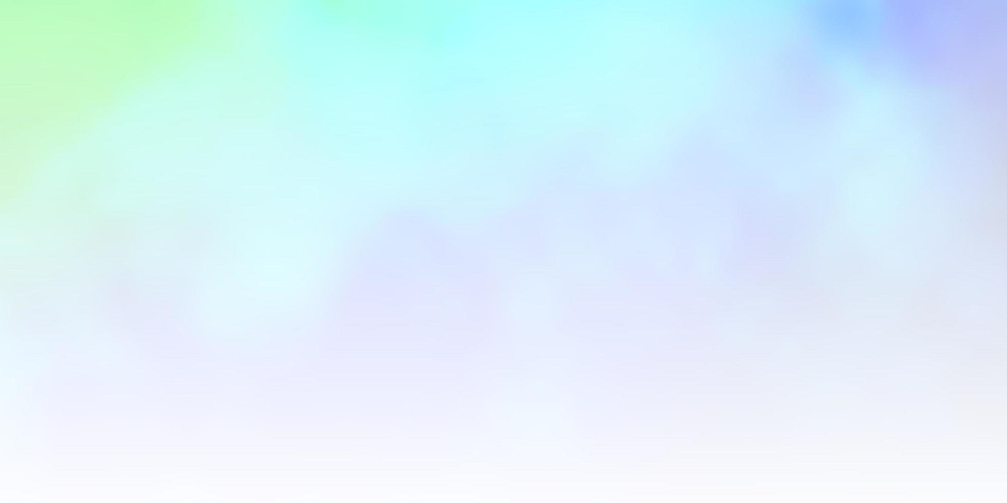 lichtblauwe, groene vectorlay-out met cloudscape. vector