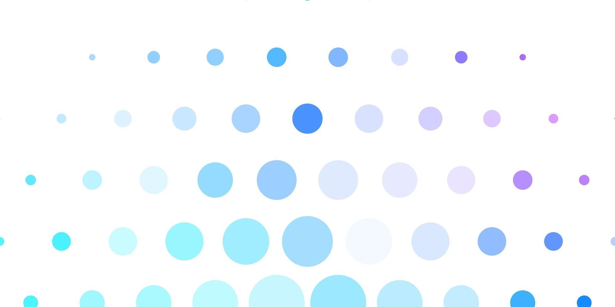 lichtroze, blauwe vectorachtergrond met vlekken. vector