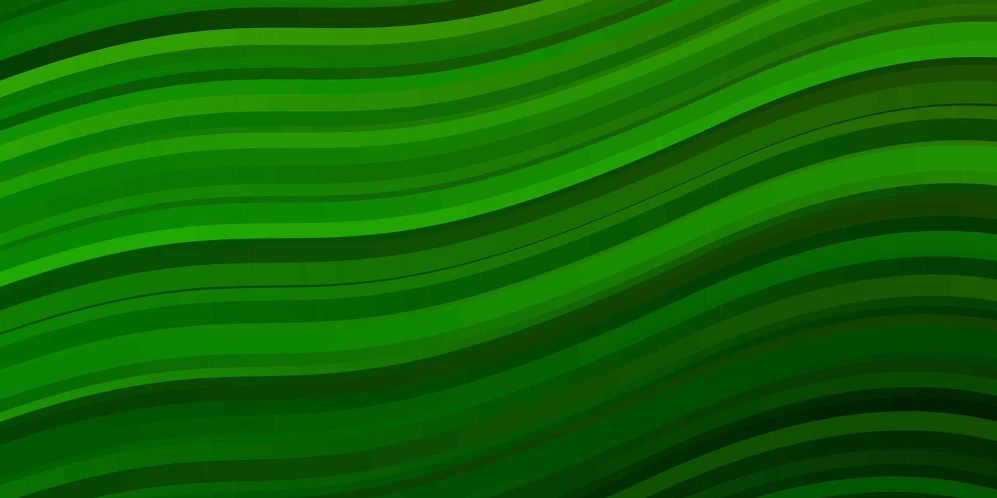 lichtgroen vectorpatroon met krommen. vector