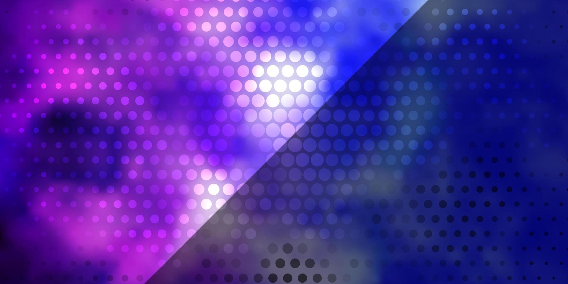 lichtroze, blauwe vectorlay-out met cirkels. vector