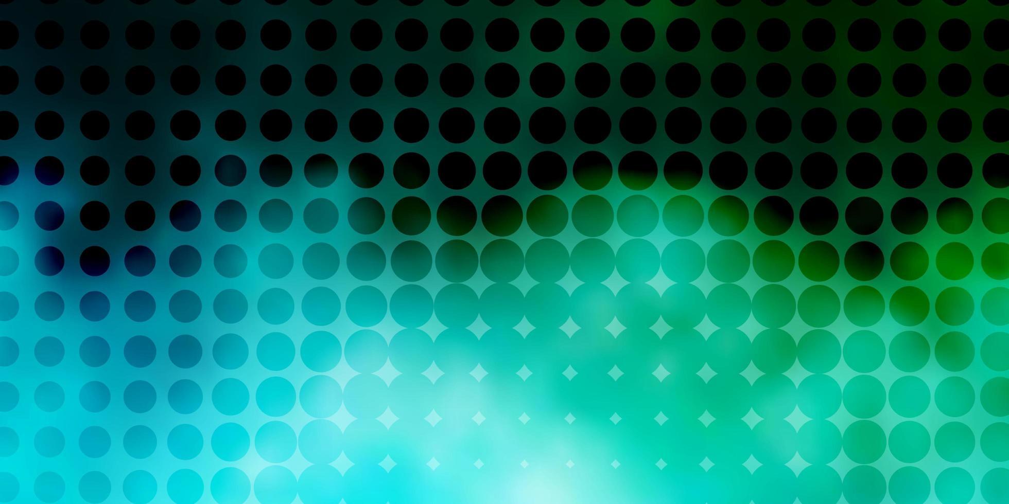 lichtblauwe, groene vectorlay-out met cirkelvormen. vector