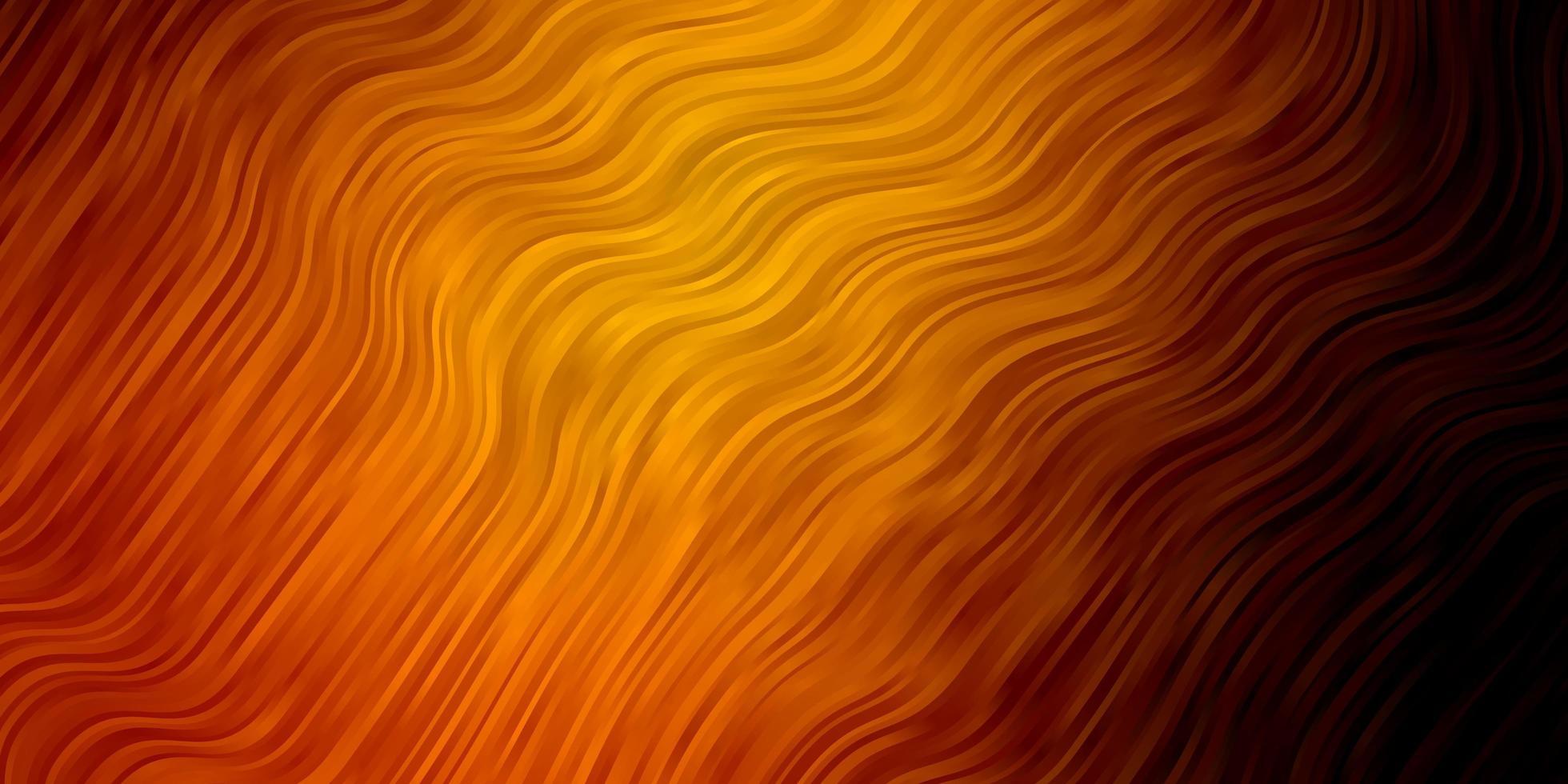 donkeroranje vectorachtergrond met gebogen lijnen. vector