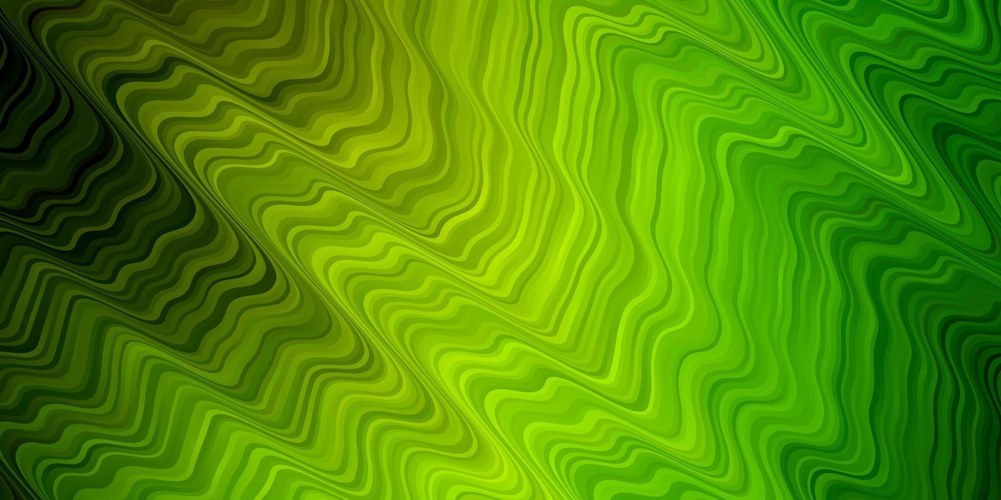 lichtgroene, gele vectortextuur met cirkelboog. vector