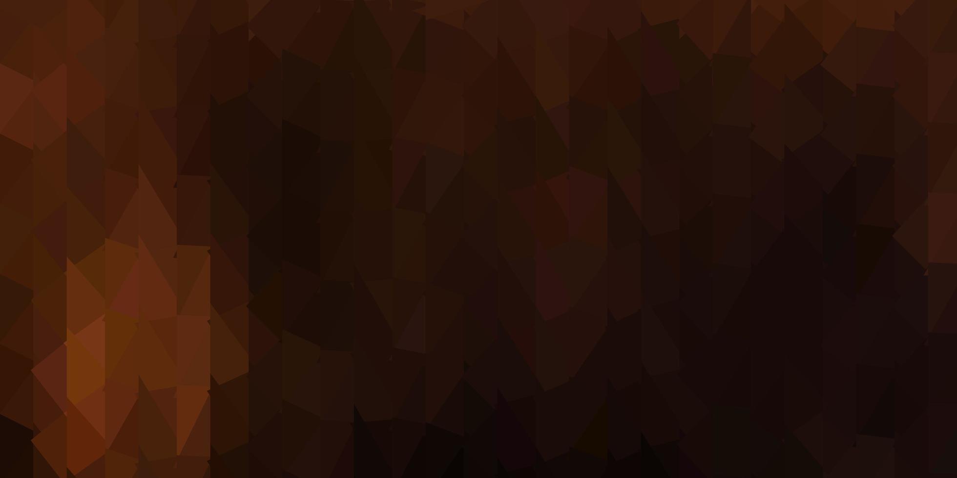 donkerbruine vector abstracte driehoeksachtergrond.