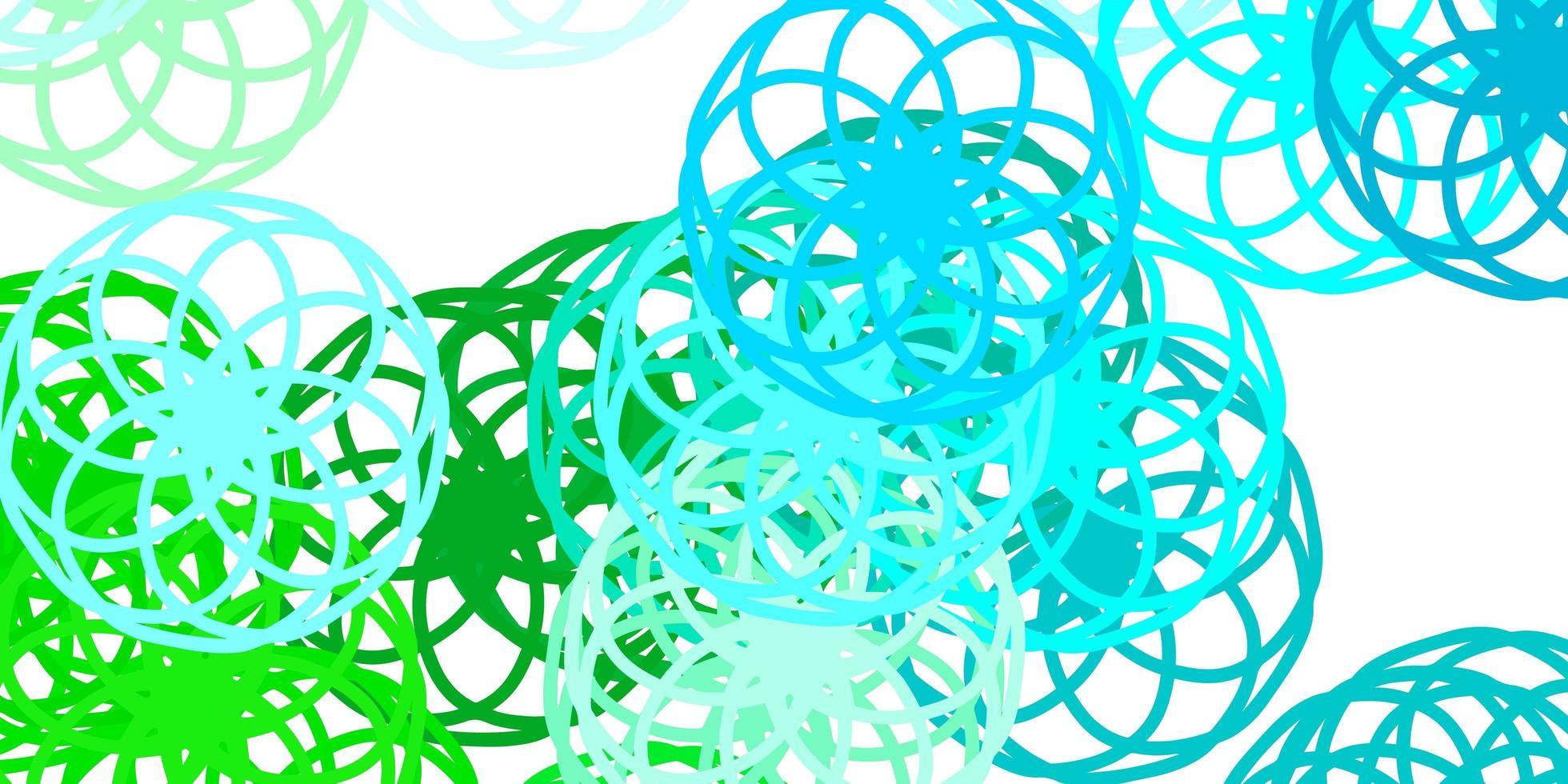 lichtblauwe, groene vectortextuur met schijven vector