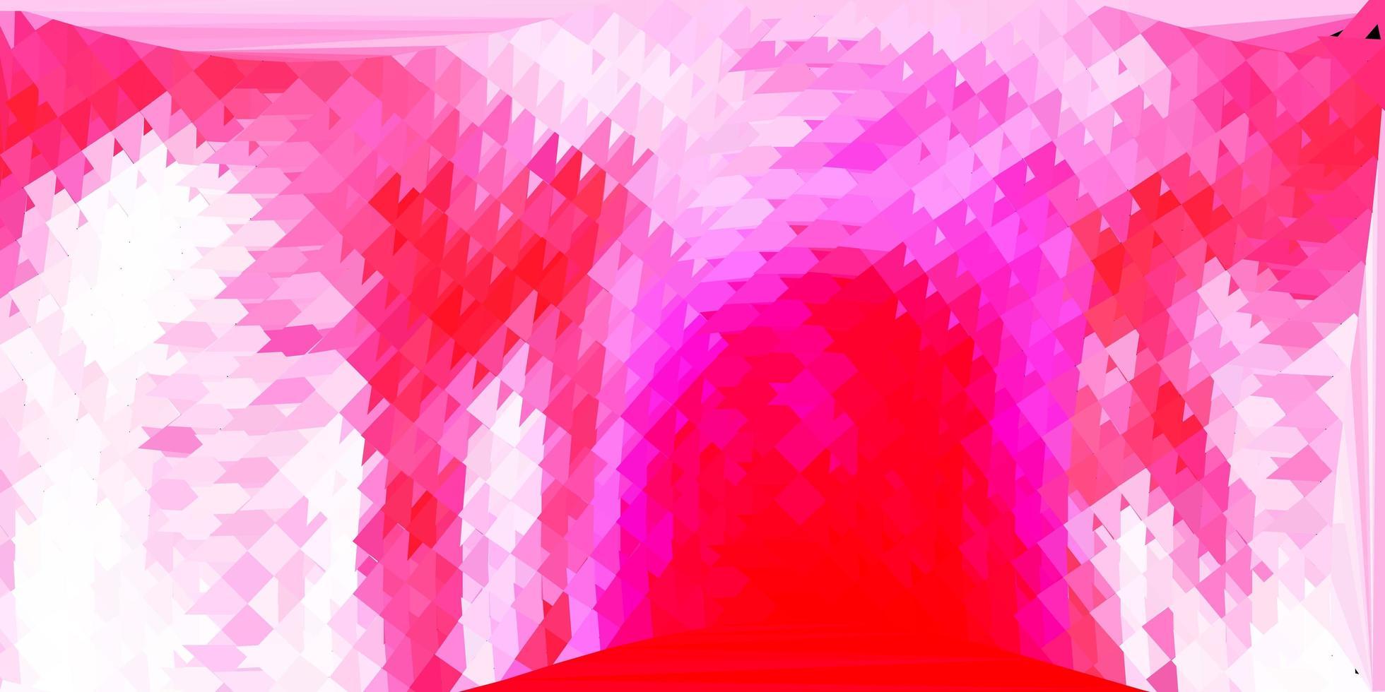 lichtroze vector kleurovergang veelhoek lay-out.