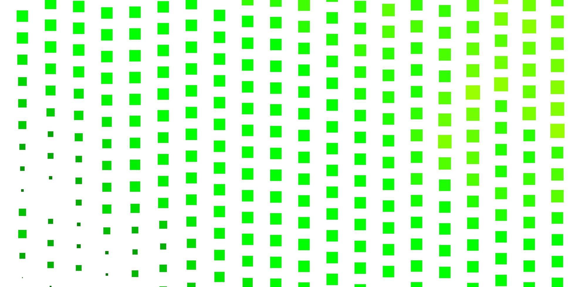lichtgroene, gele vectorlay-out met lijnen, rechthoeken. vector
