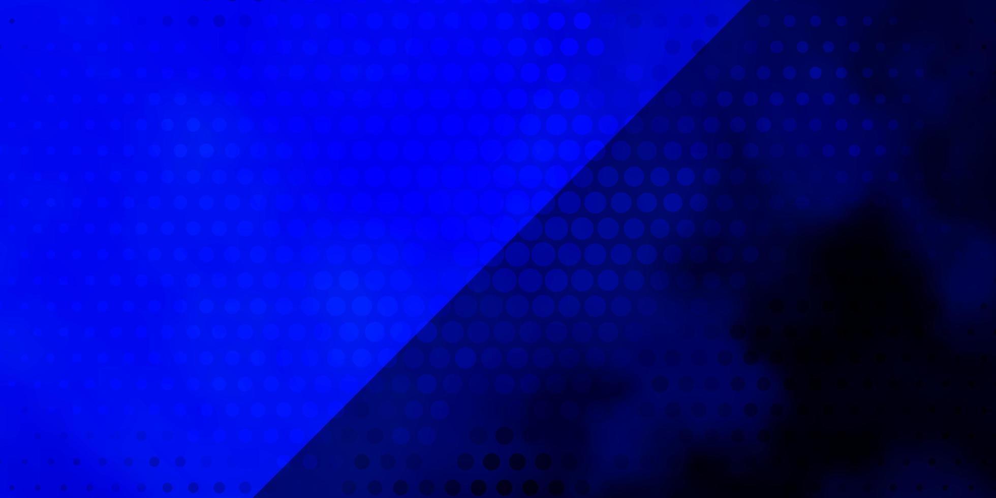 donkerblauwe vectortextuur met cirkels. vector