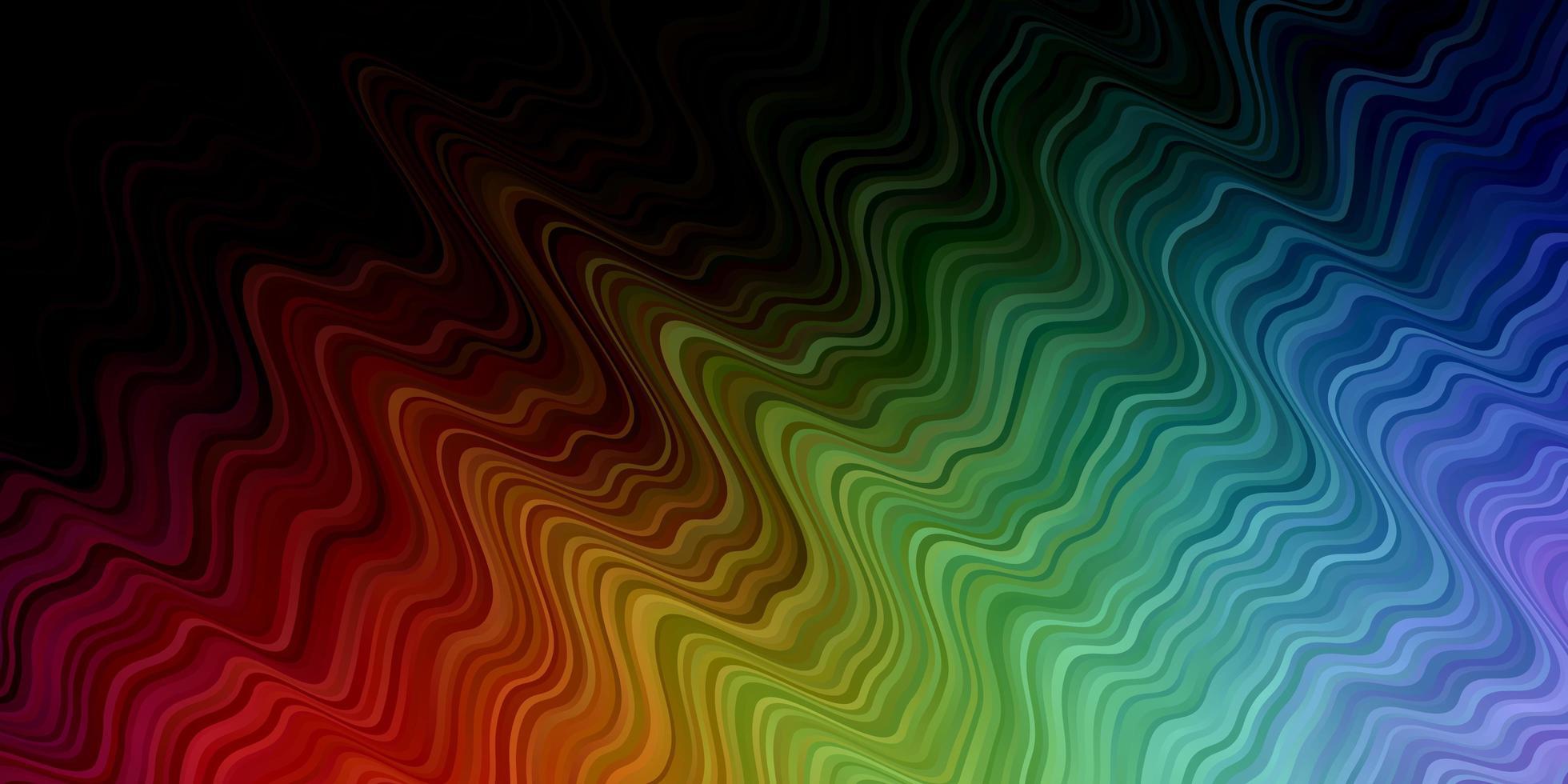 donkere veelkleurige vector sjabloon met wrange lijnen.