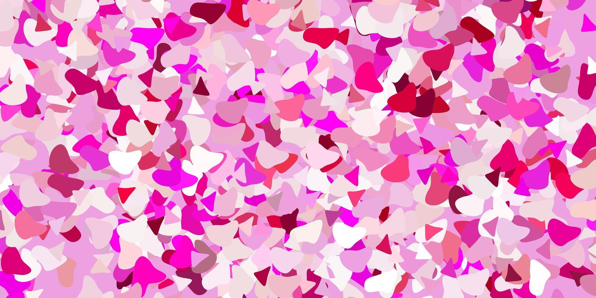 lichtroze vectorpatroon met abstracte vormen. vector