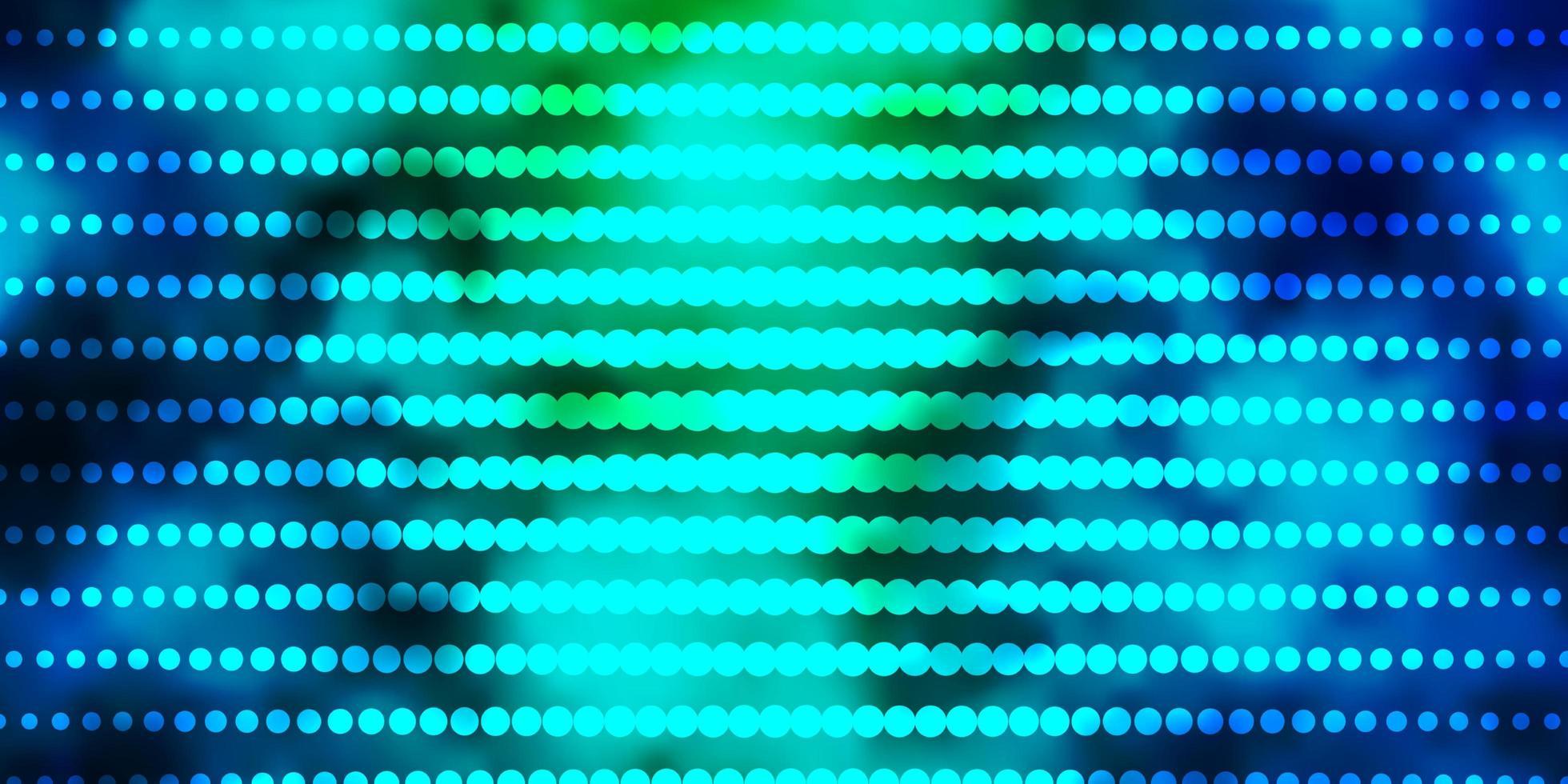 lichtblauw, groen vectorpatroon met cirkels. vector