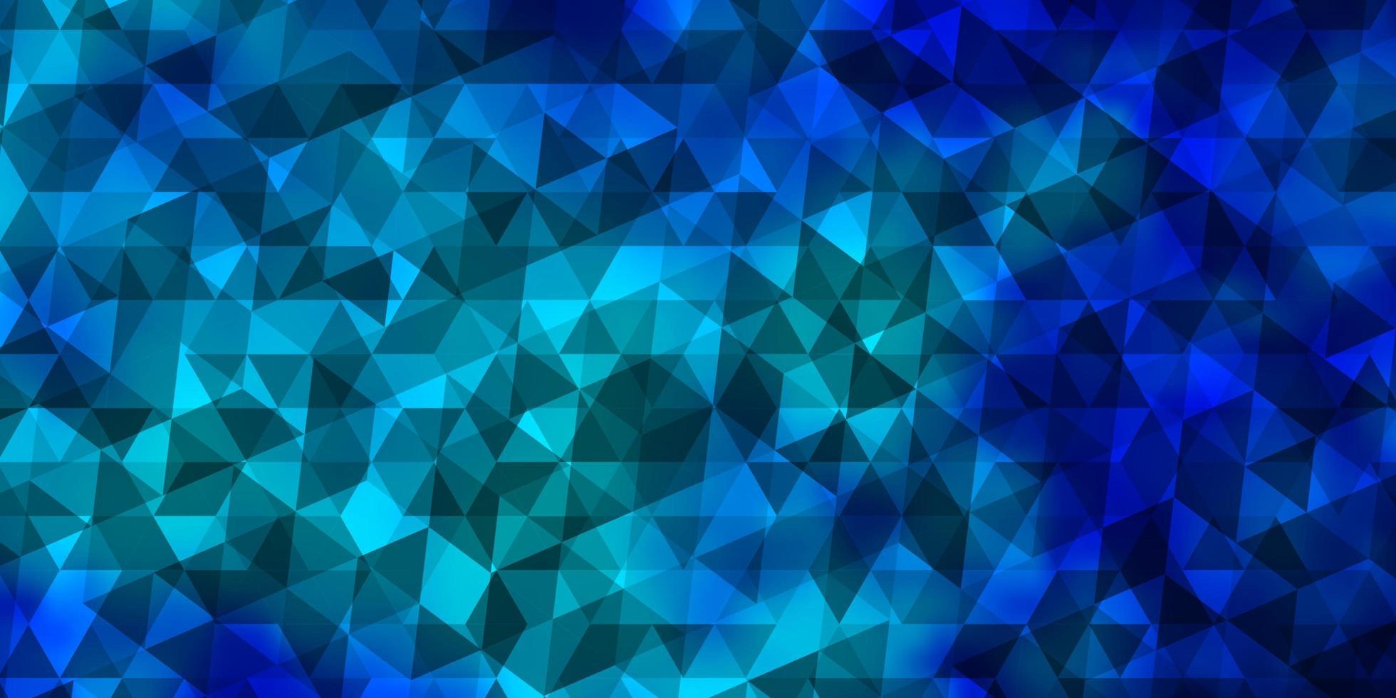 lichtblauwe vectorlay-out met lijnen, driehoeken. vector