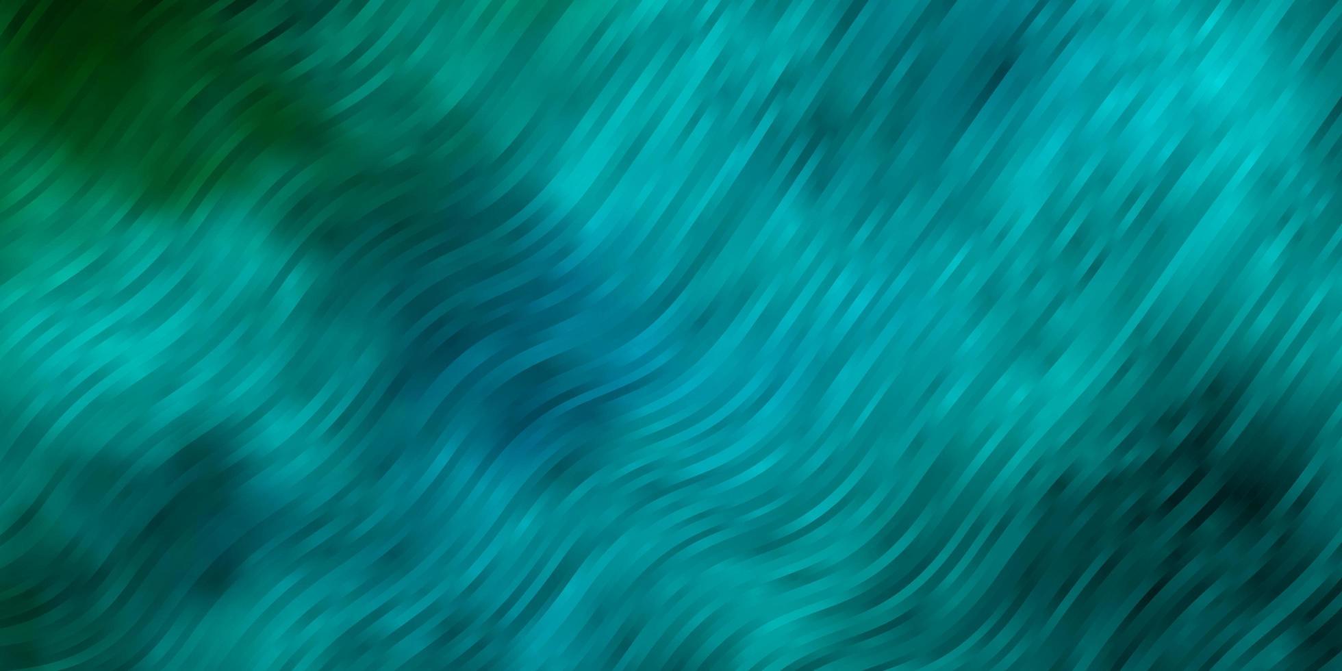 lichtblauwe, groene vectorlay-out met curven. vector