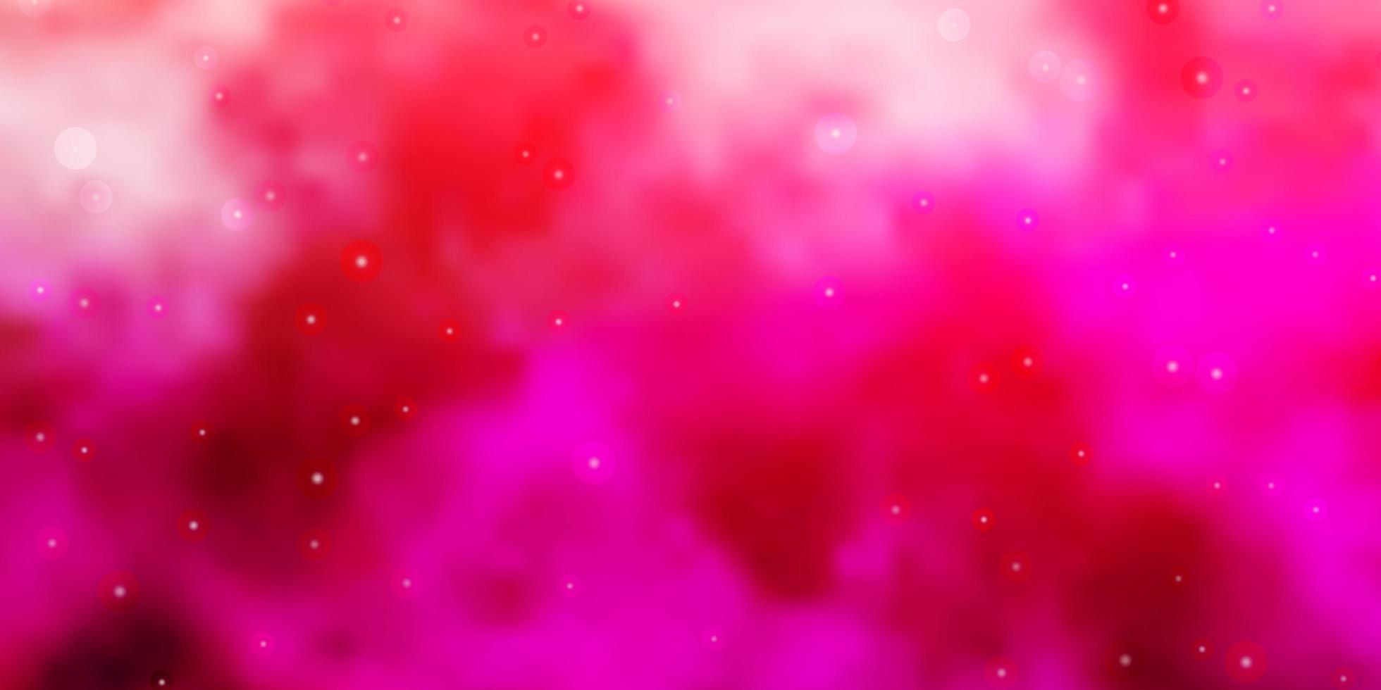 lichtroze vectortextuur met prachtige sterren. vector