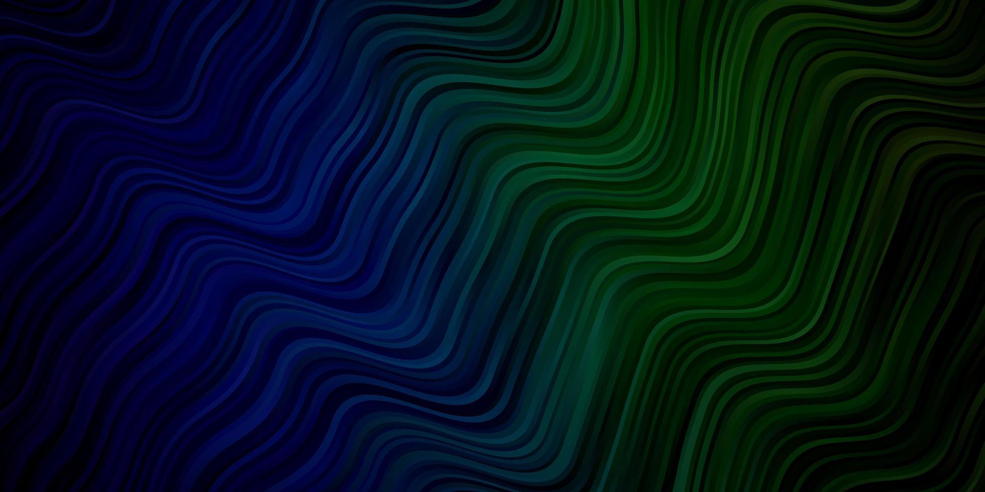 lichtblauw, groen vectorpatroon met wrange lijnen. vector