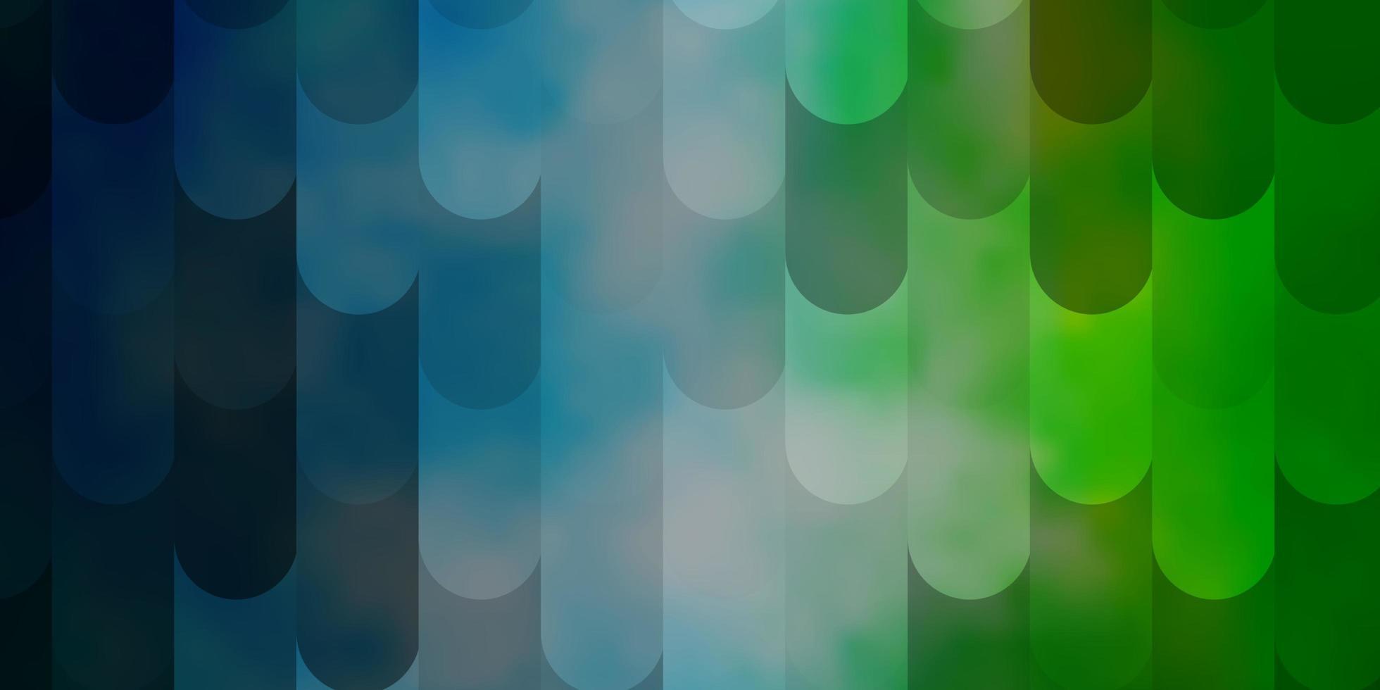 lichtblauw, groen vectorpatroon met lijnen. vector