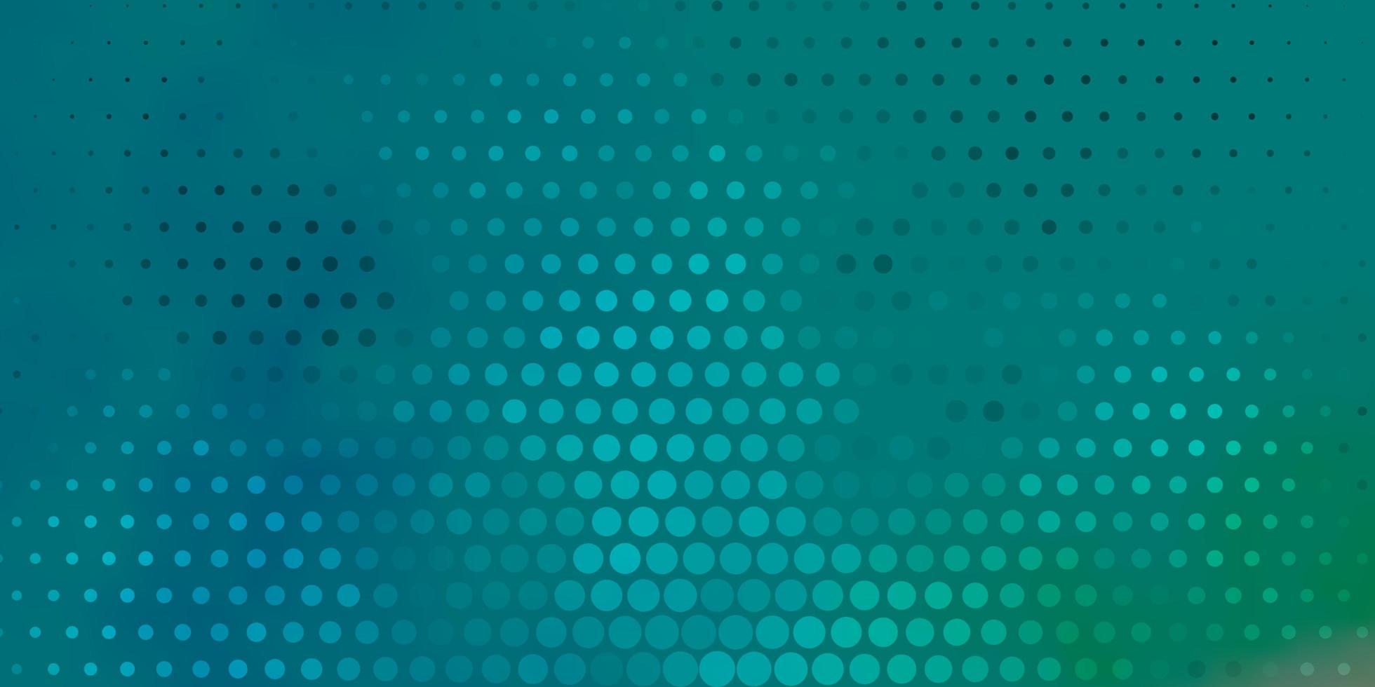 lichtblauwe, groene vectortextuur met schijven. vector