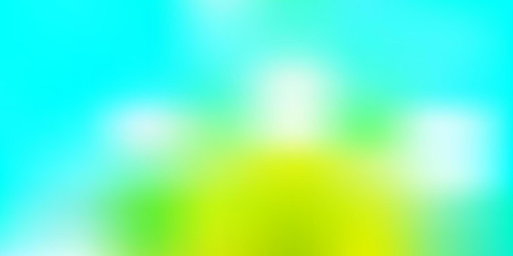 lichtblauwe, groene vector wazig textuur.