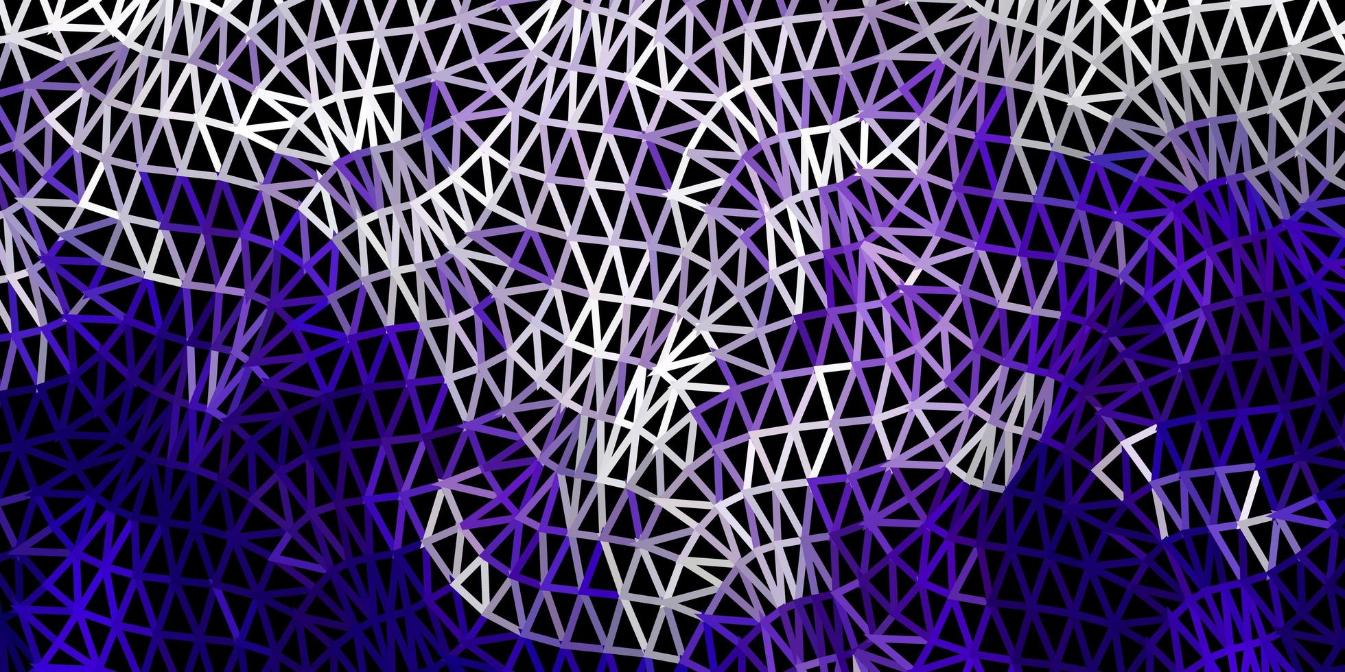 donkerpaars vector abstract driehoeksjabloon.
