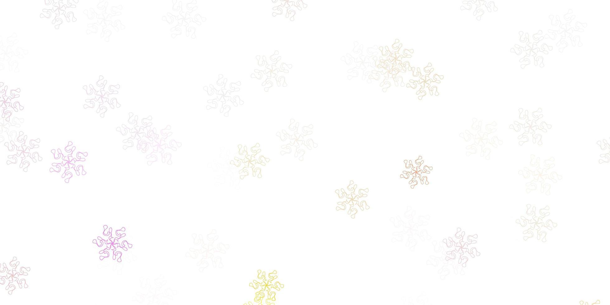 lichtroze, gele vector natuurlijke lay-out met bloemen.