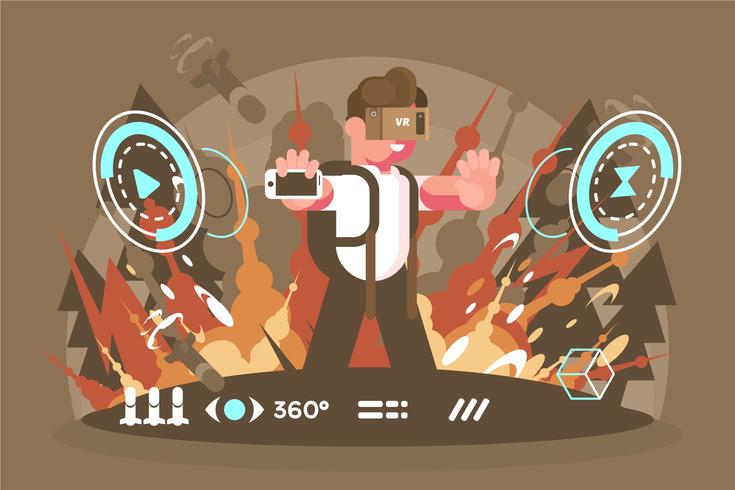 Virtual Reality Experience Illustratie vector