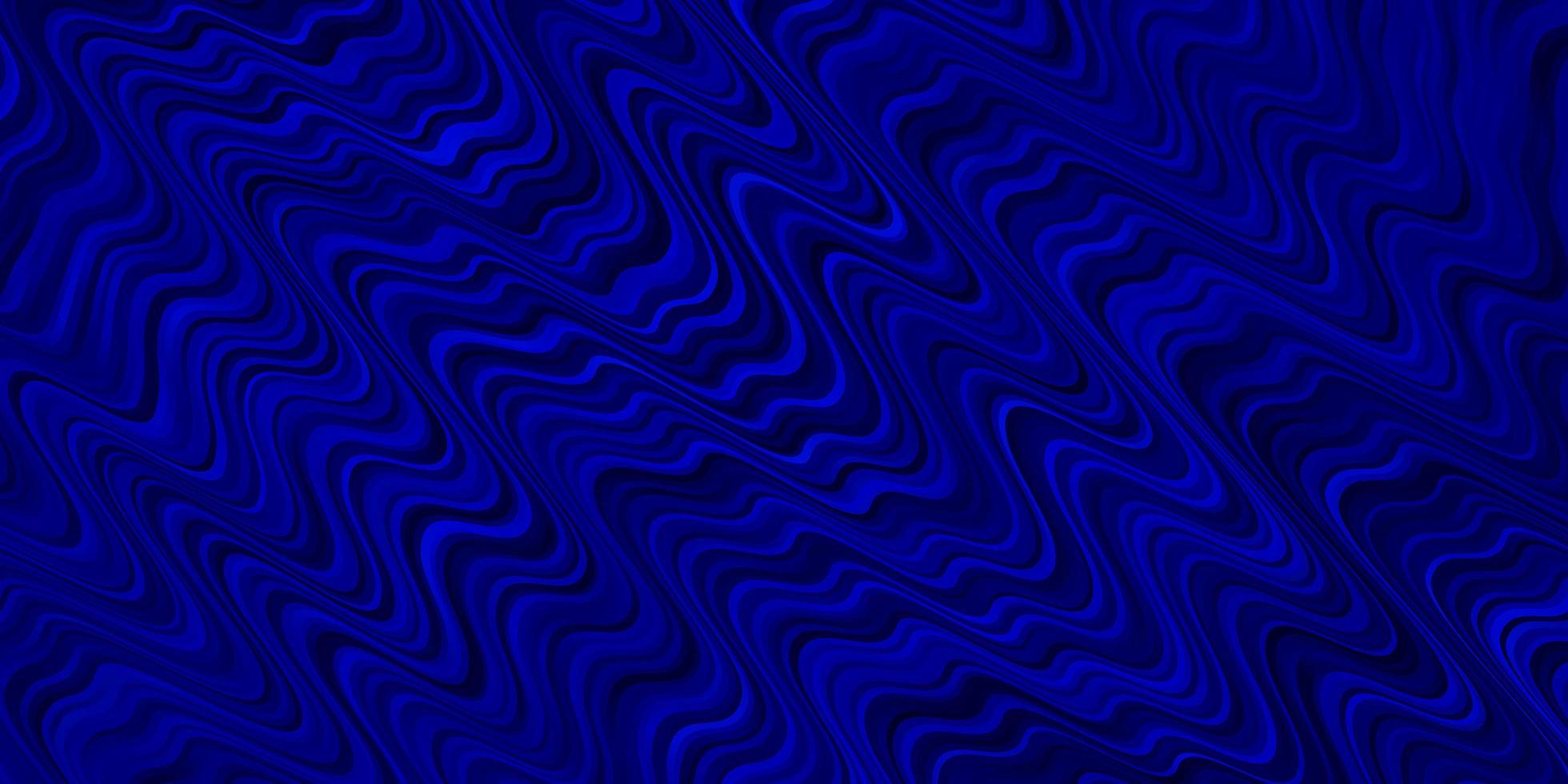 donkerblauw vectorpatroon met lijnen. vector