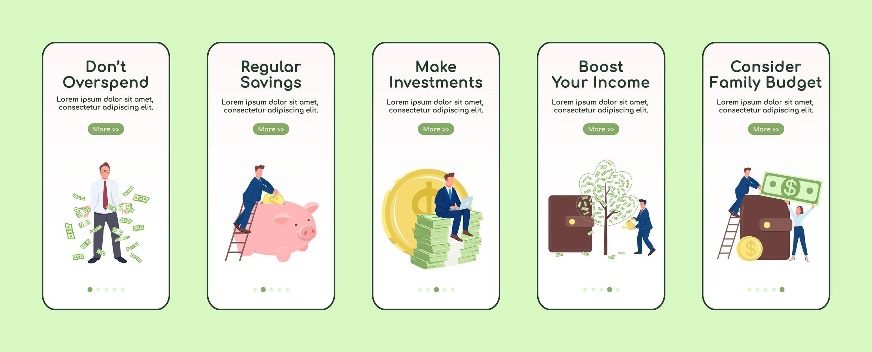 een rijk mobiel app-scherm worden vector