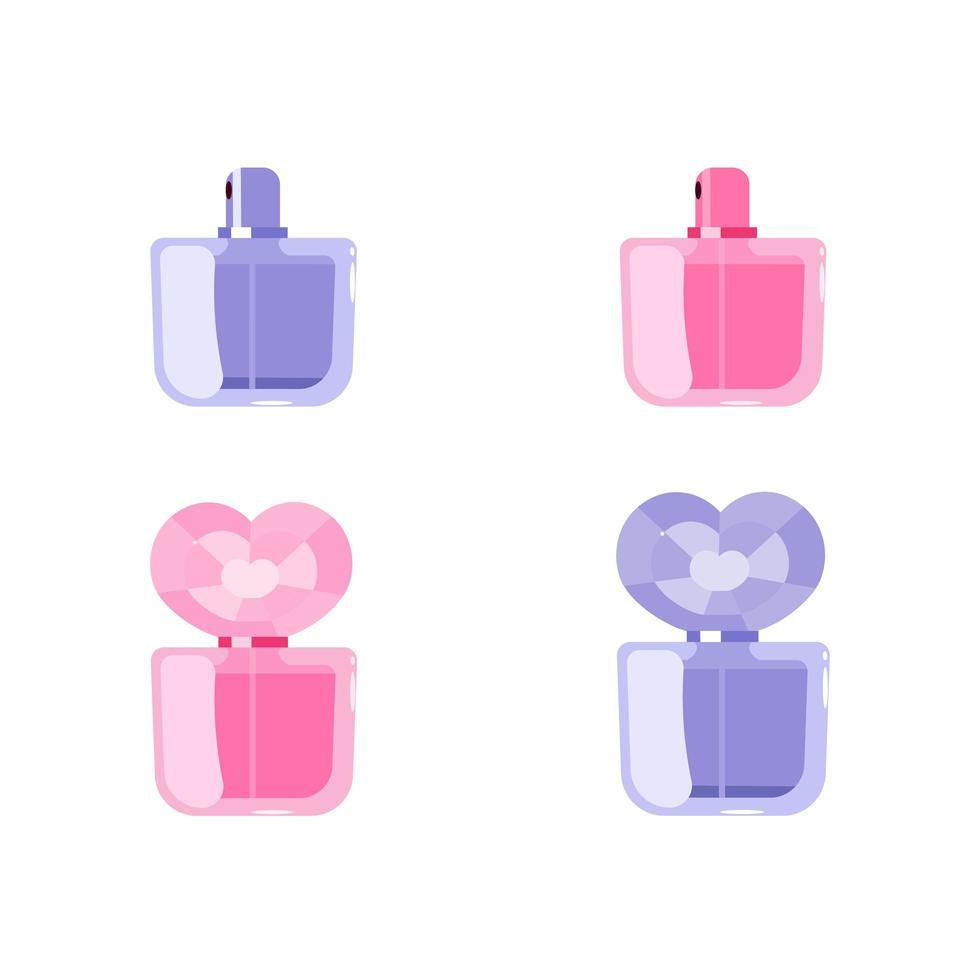 parfum platte vectorobjecten instellen vector