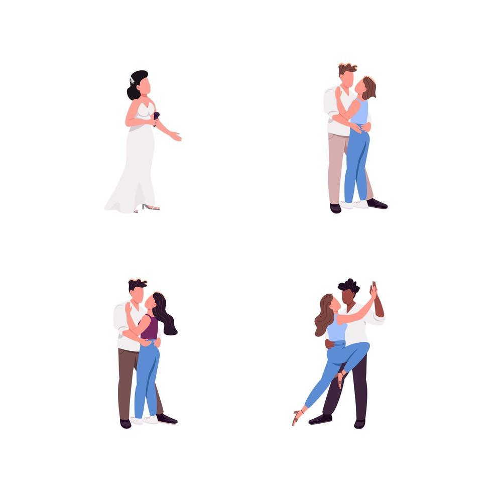paar egale kleur vector anonieme tekenset