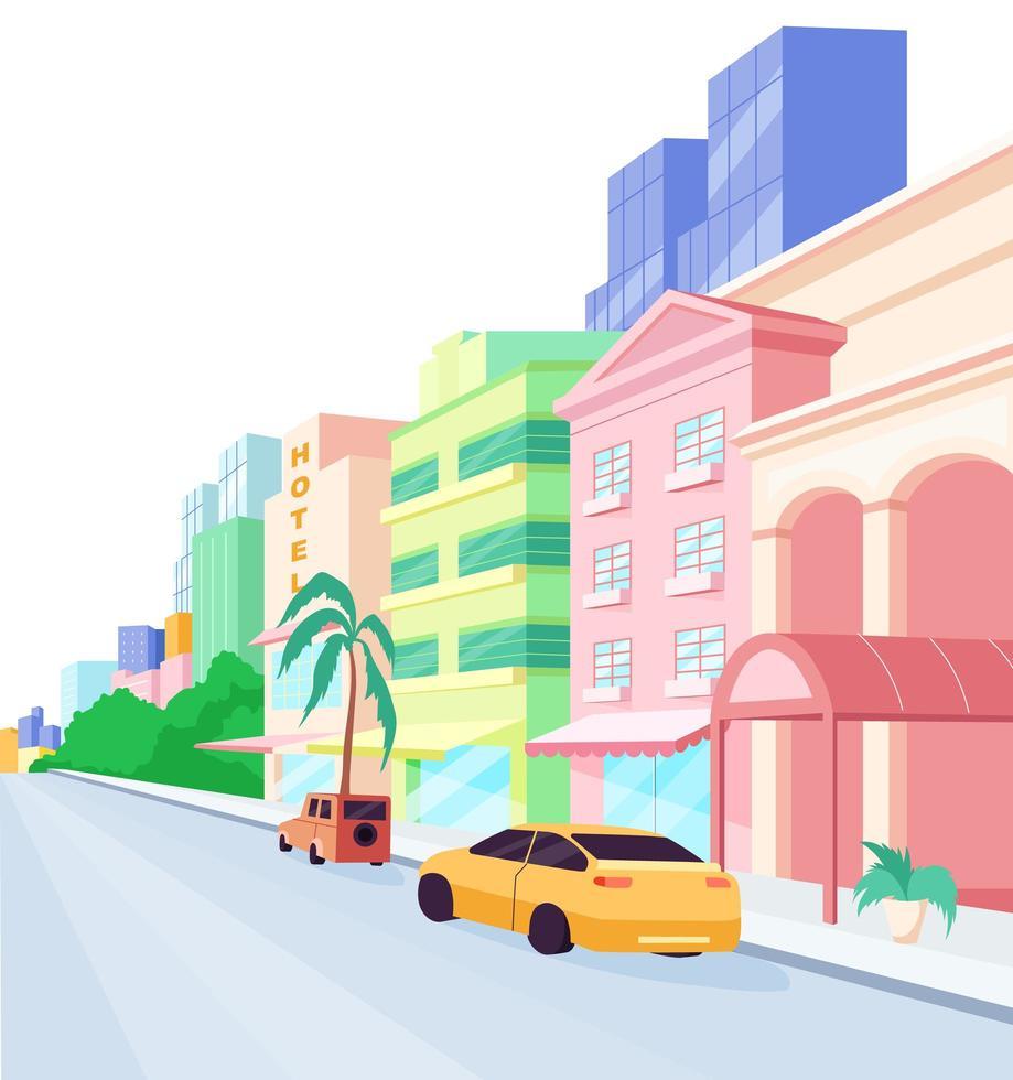 Miami straten egale kleur vector-object vector