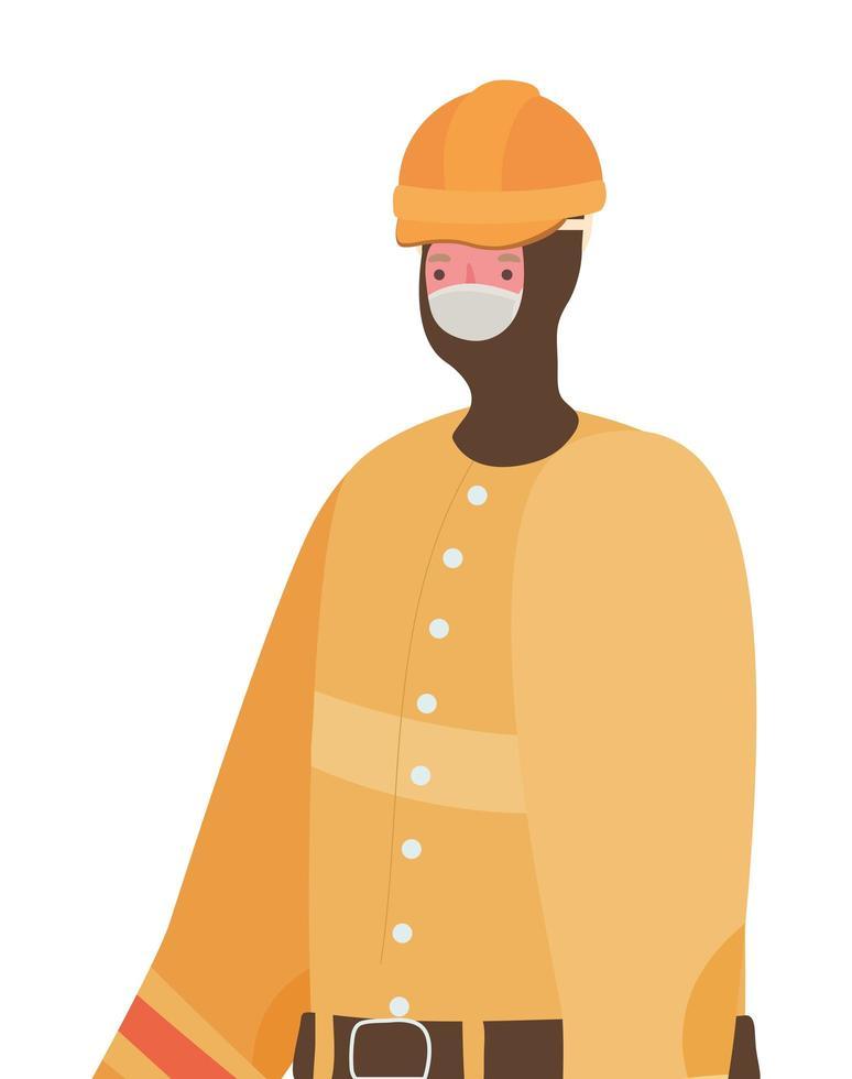 mannelijke constructeur met masker vectorontwerp vector