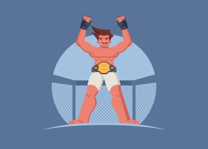 Ultieme gevechten winnen van een illustratie van het kampioenschap vector