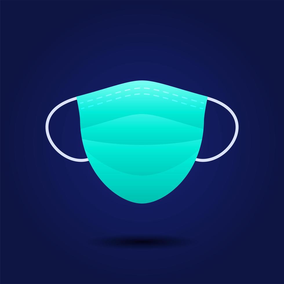 realistische hygiënische maskervectoren voor deeltjesmasker en coronavirusfilter op blauwe achtergrond vector