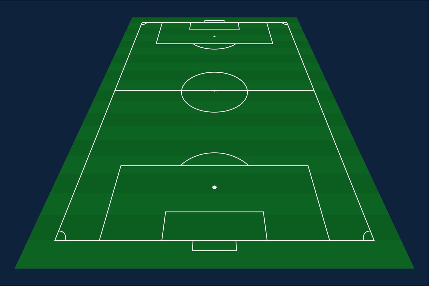 groen gras vector voetbal of voetbal veld achtergrond. voorraad vectorillustratie van een voetbalveld met front perspectief