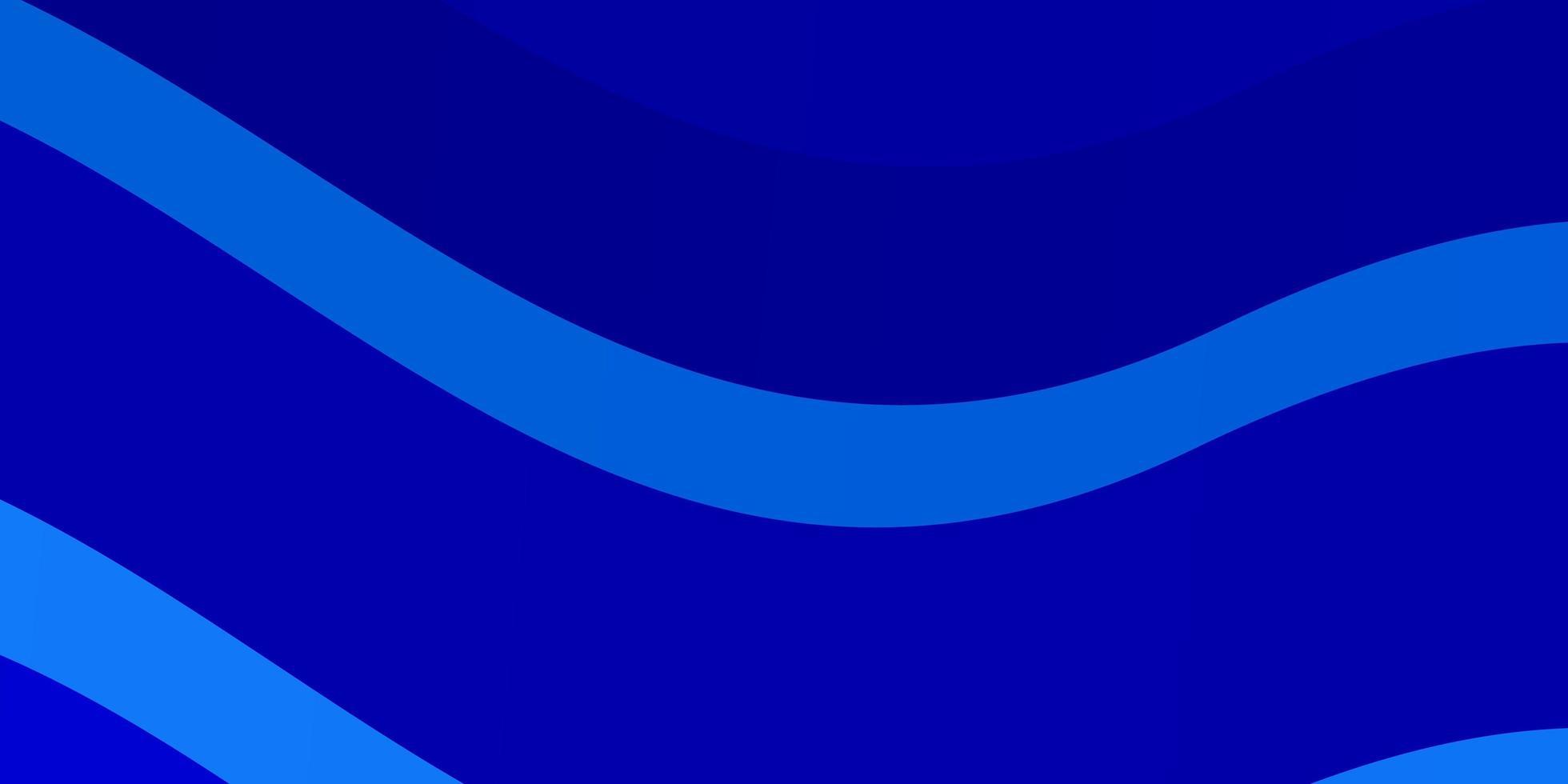 lichtblauw vectorpatroon met wrange lijnen. vector