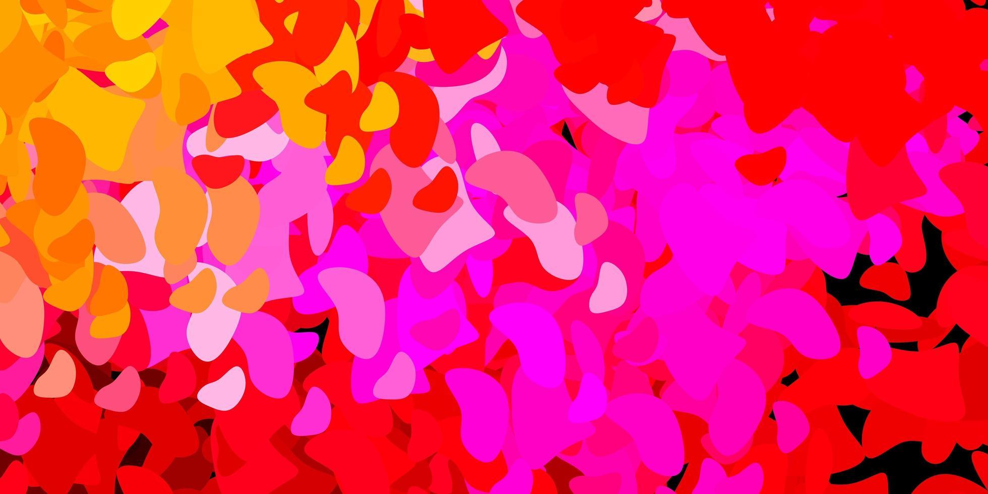 donkerpaarse vectorachtergrond met chaotische vormen. vector
