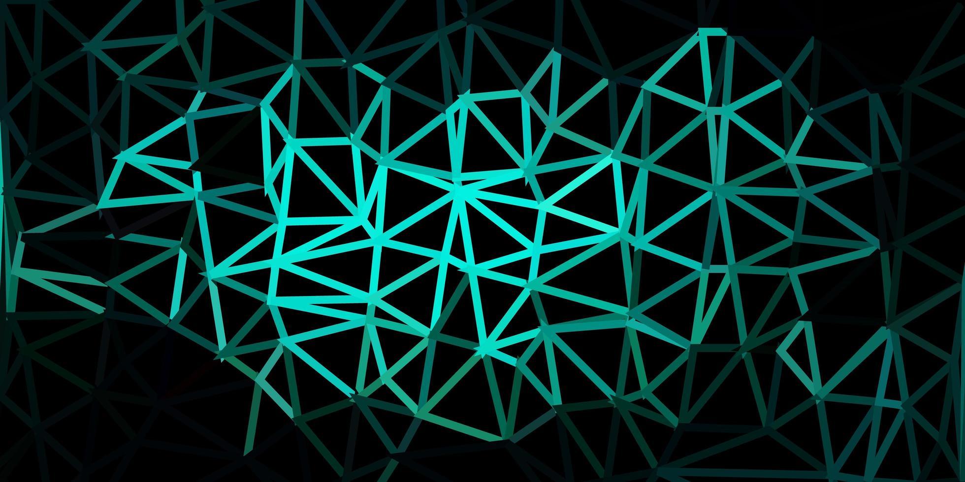 donkerblauwe, groene vector veelhoekige achtergrond.