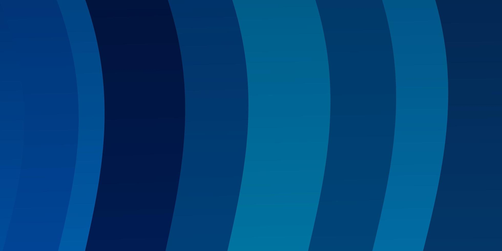 lichtblauw vectorpatroon met krommen. vector