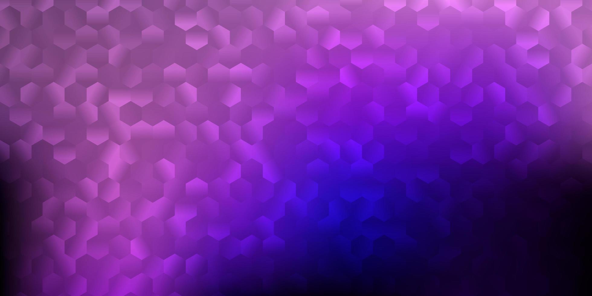 donkerpaars, roze vectortextuur met vormen van Memphis. vector