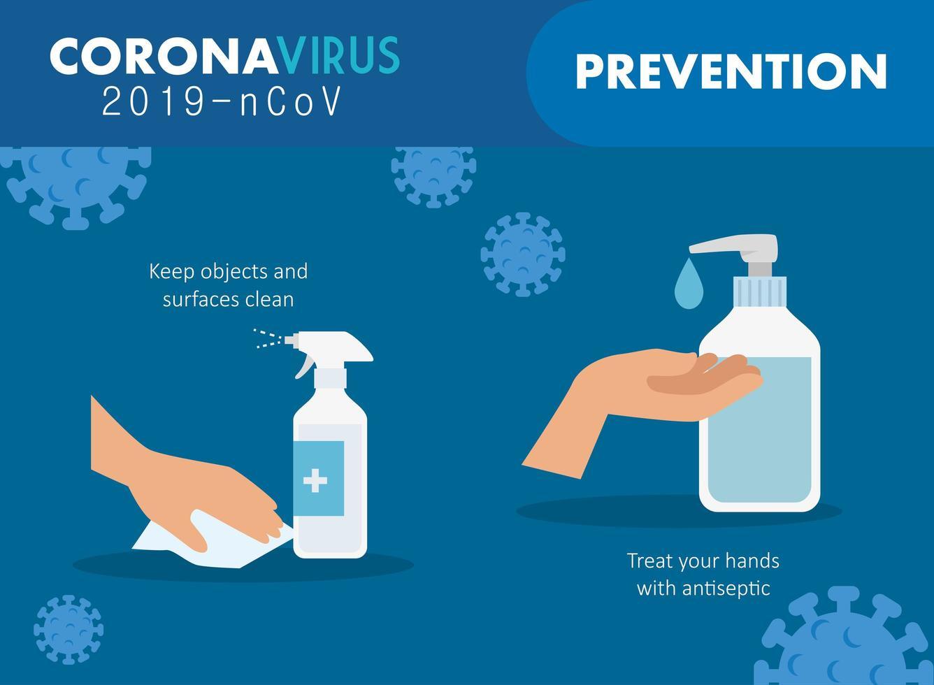 banner voor coronaviruspreventie vector