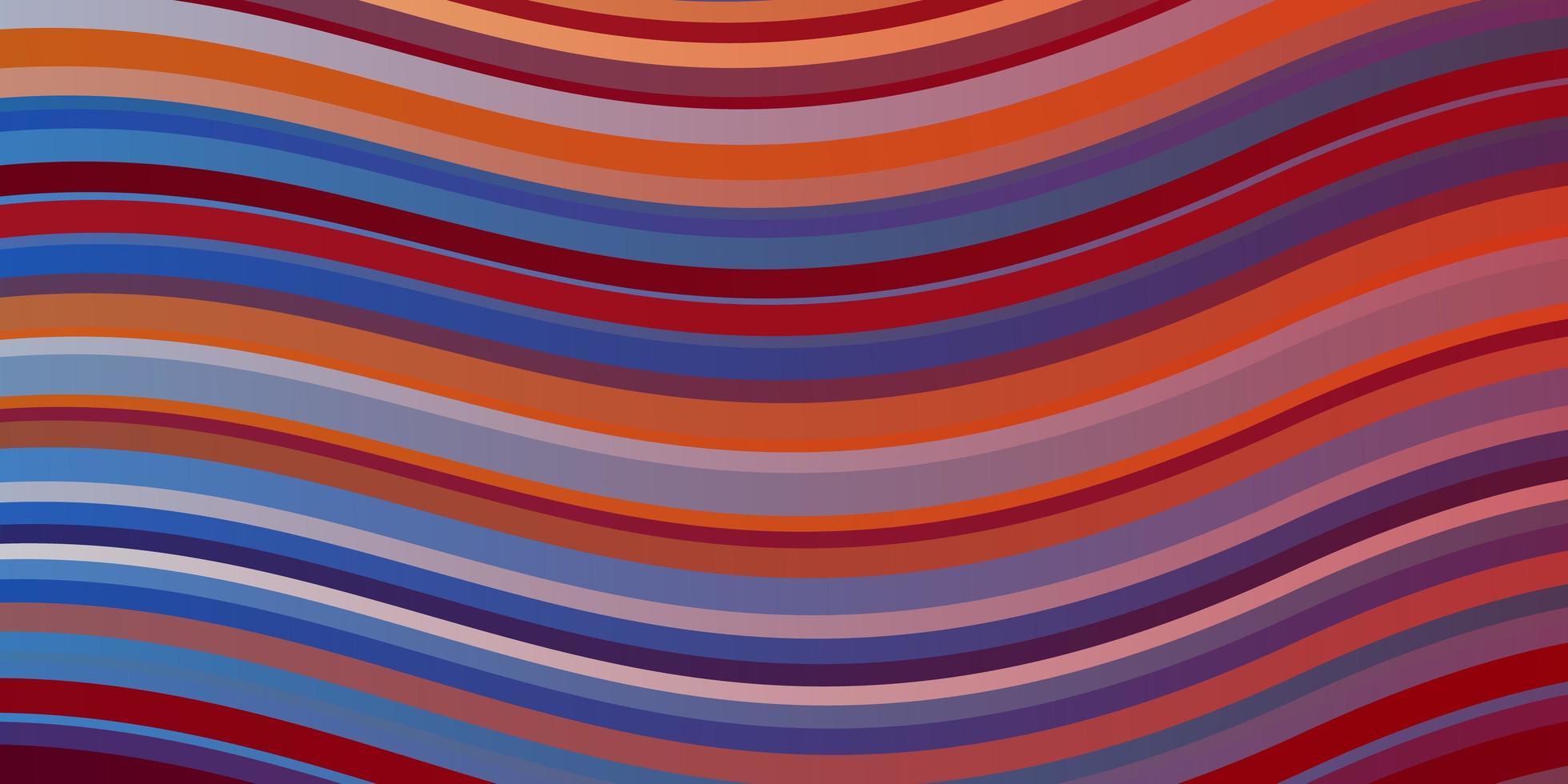 lichtblauwe, rode vectortextuur met wrange lijnen. vector