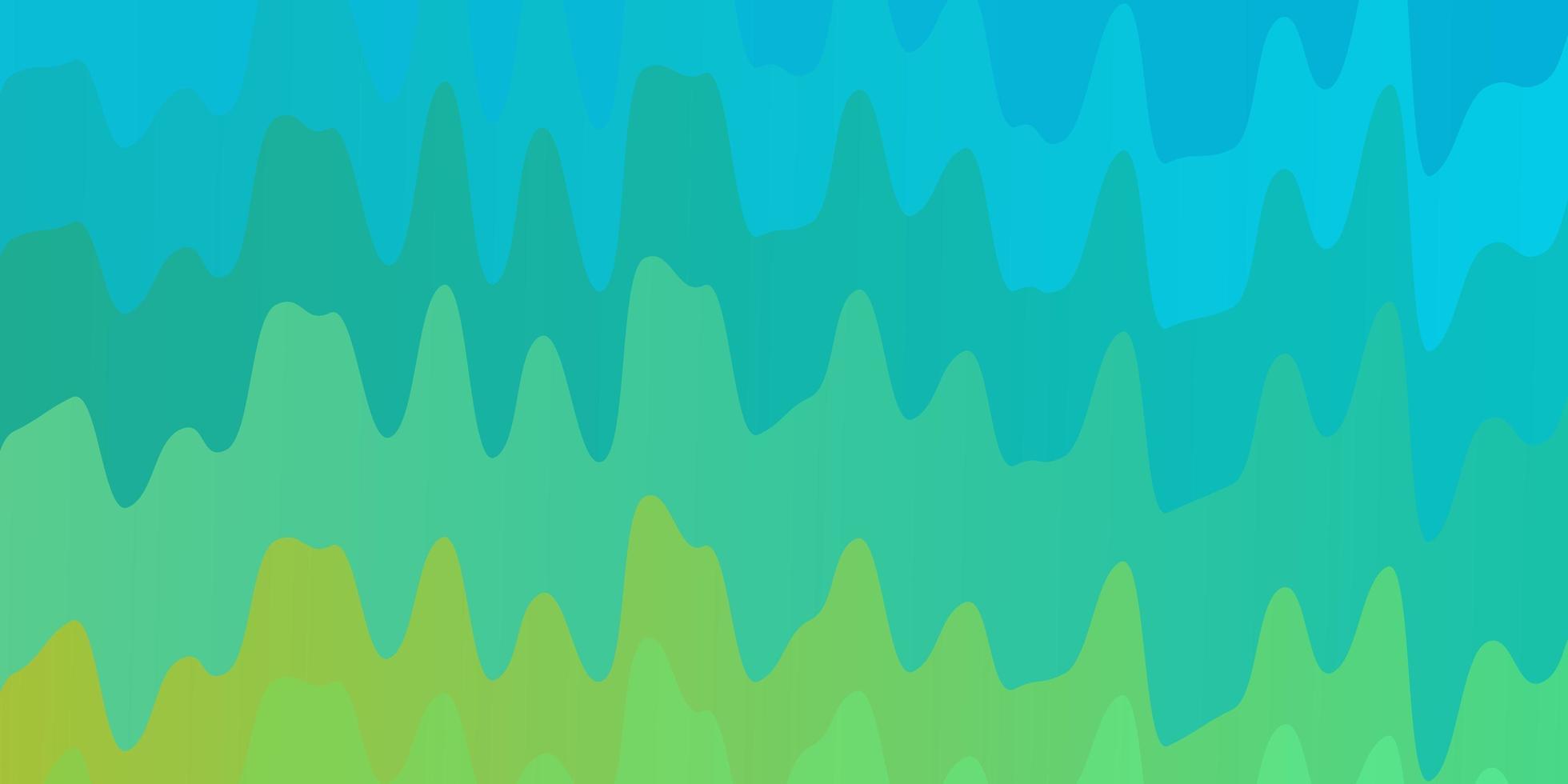 lichtblauwe, gele vectorachtergrond met gebogen lijnen. vector