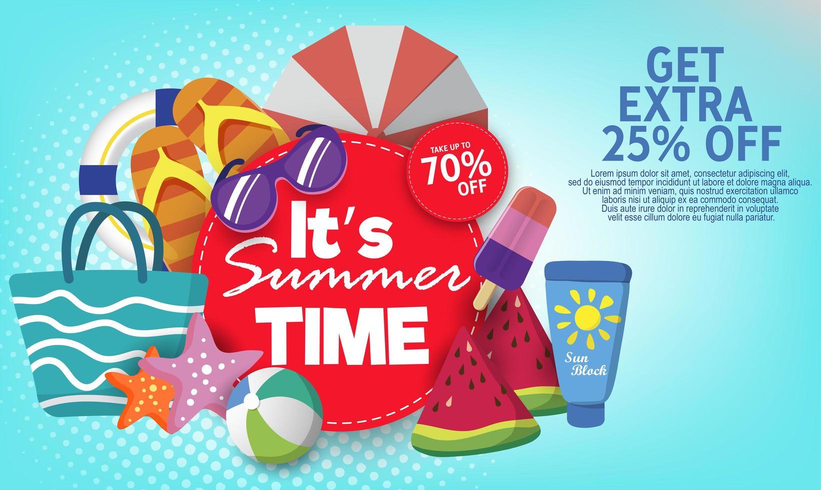 zomer super verkoop sjabloon voor spandoek op kleur achtergrond. vector