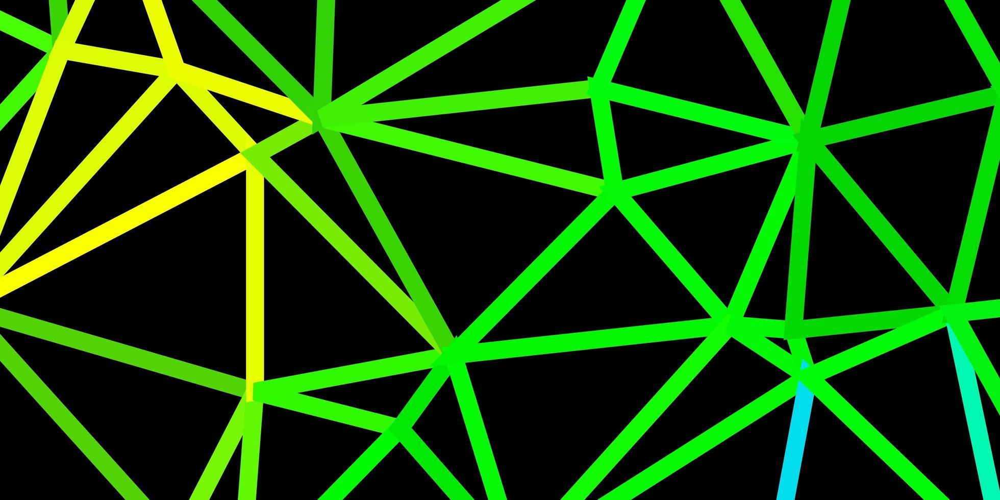 donkerblauw, groen vector abstract driehoeksjabloon.