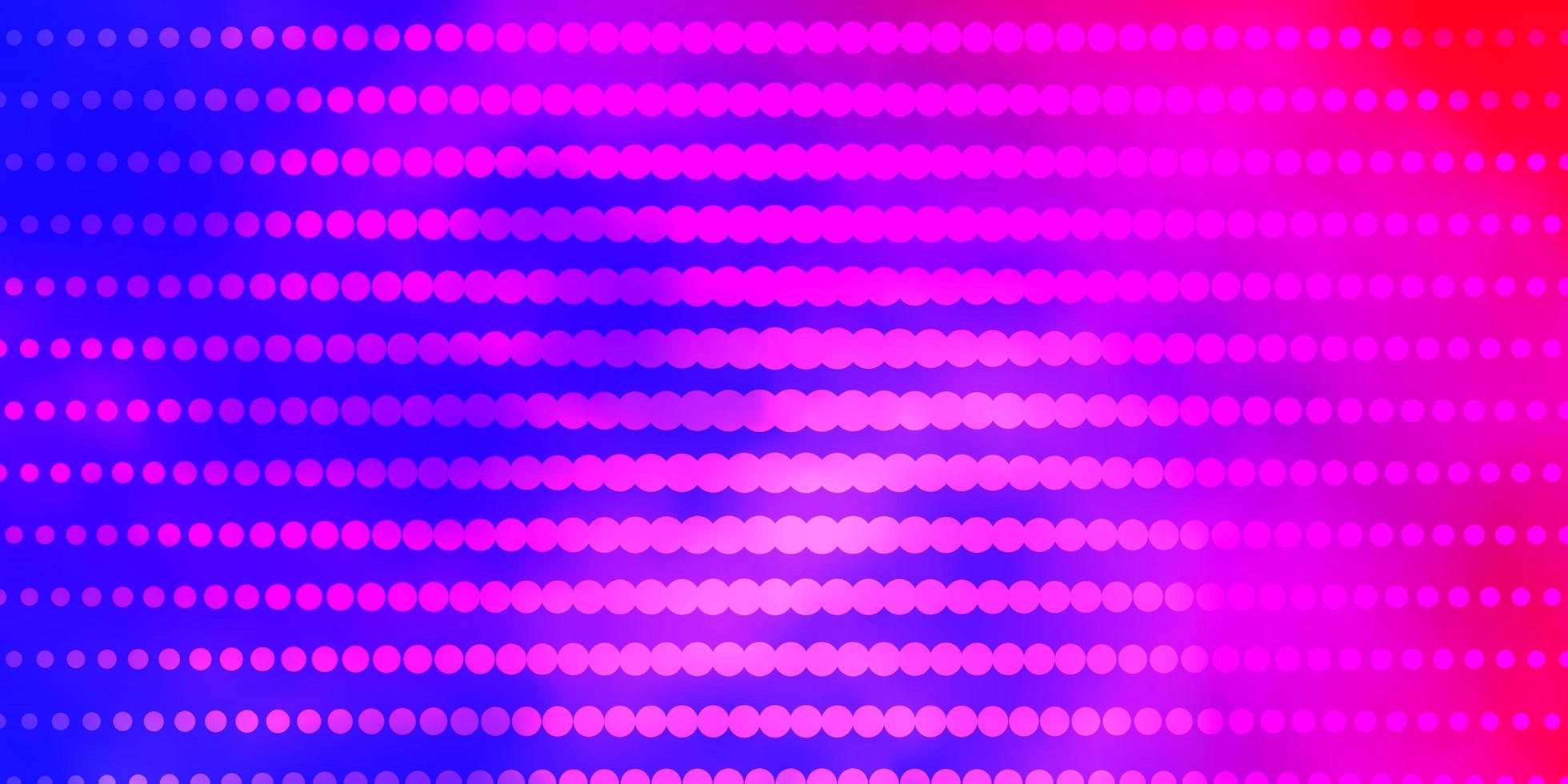 lichtblauwe, rode vectorachtergrond met cirkels. vector