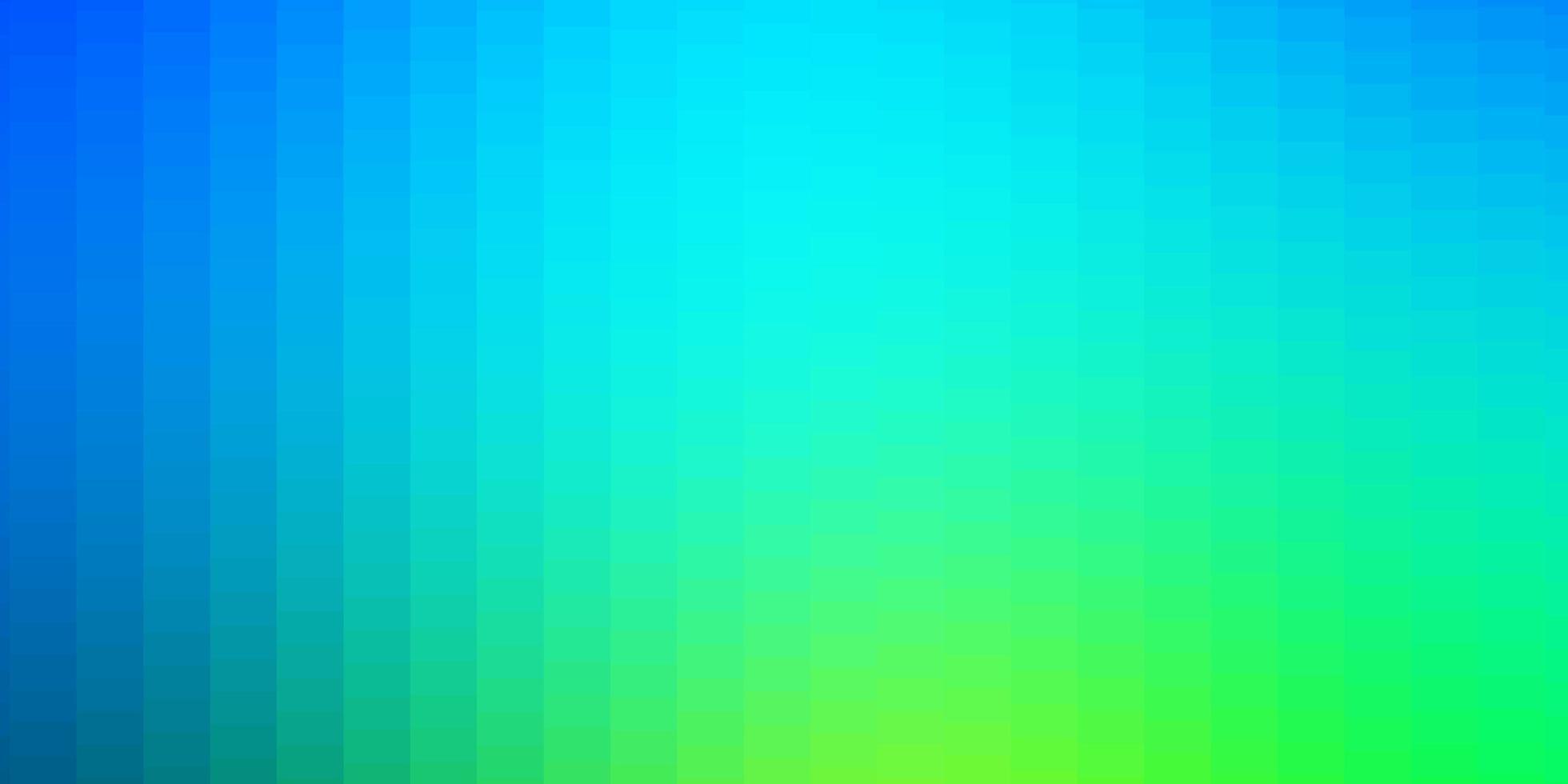 lichtblauw, groen vectorpatroon in vierkante stijl. vector