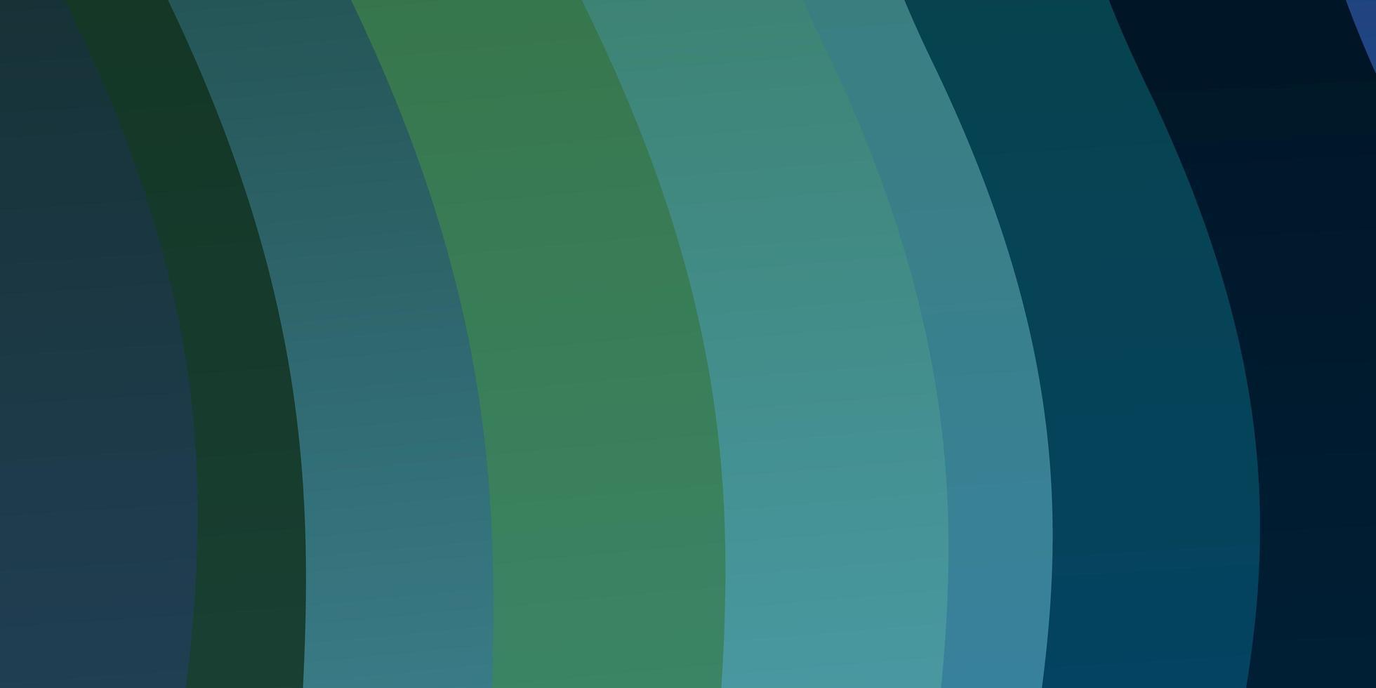 lichtblauwe, groene vectorachtergrond met bogen. vector