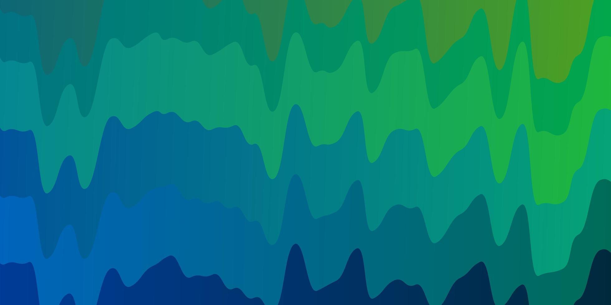 lichtblauw, groen vectorpatroon met krommen. vector