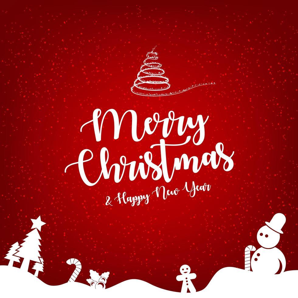 prettige kerstdagen en gelukkig nieuwjaar wenskaartsjabloon. vector