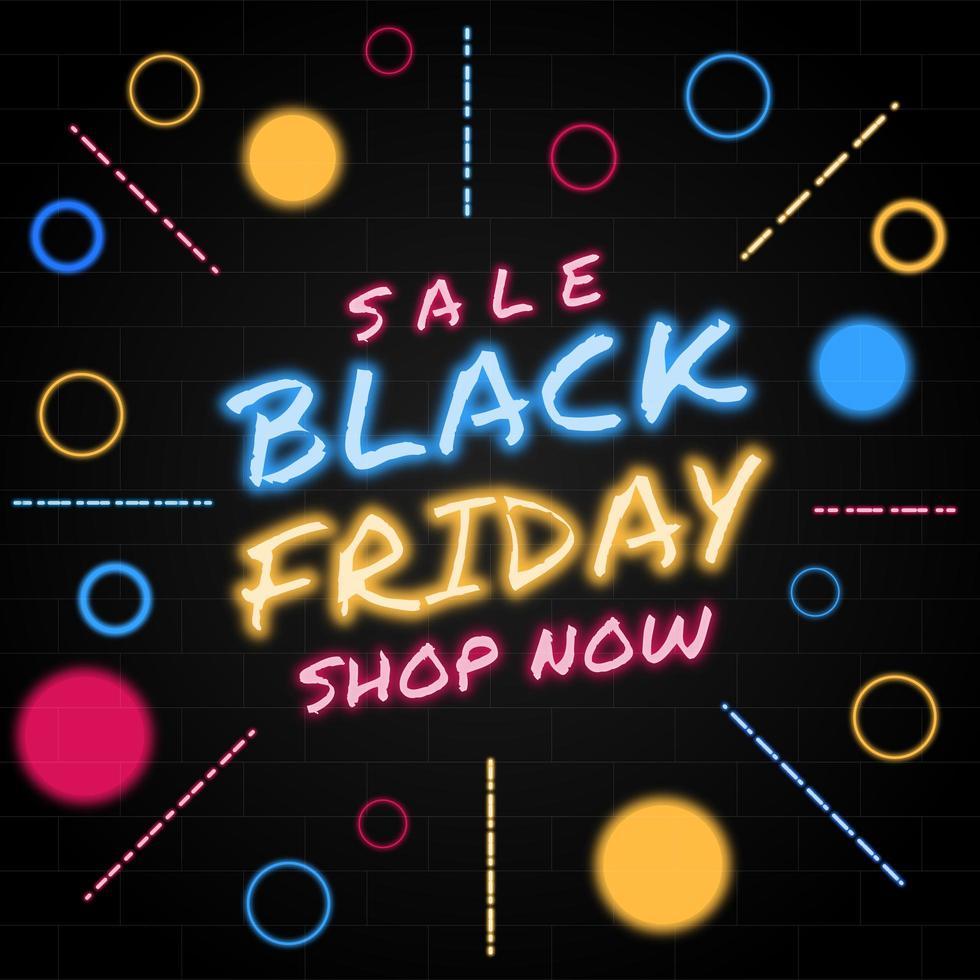 zwarte vrijdag verkoop neon modern design vector